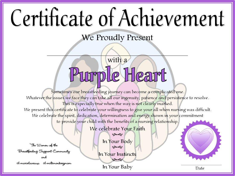 Purple Heart Award Certificate  newhairstylesformen2014 com
